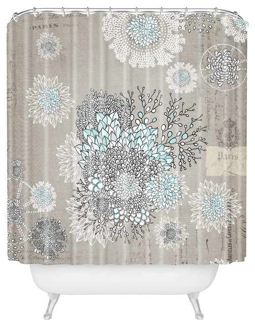 Iveta Abolina French Blue Shower Curtain  Contemporary  Shower Curtains  by DENY Designs