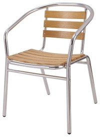 Brushed Aluminum: Brushed Aluminum Outdoor Chair