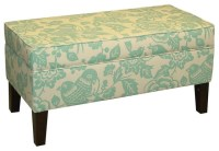 Teal Storage Bench - Contemporary - Accent And Storage ...