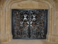 Wrought Iron Fireplace Screens - dallas - by Iron Passion, LLC