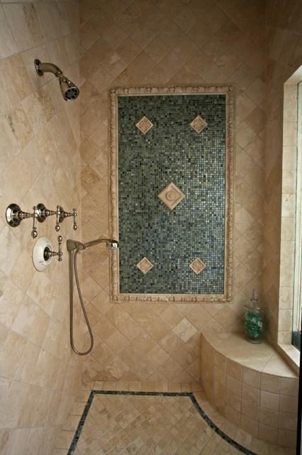 Tile Bathroom Shower  Mediterranean  Bathroom  san