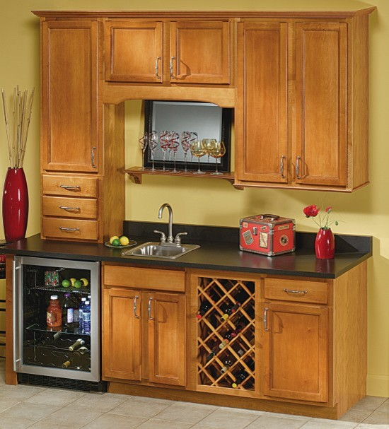 Aristokraft Sinclair Home Bar Cabinets  Transitional