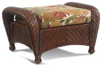 Casablanca Wicker Rattan Ottoman - Tropical - Furniture ...