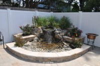 Pond less Waterfall with Granite Paving Stones Patio ...