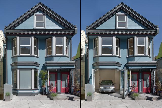 Mirabelle Garage  Modern  Exterior  san francisco  by Ken Gutmaker Architectural Photography