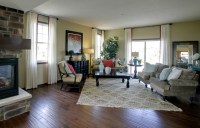 Model Home Living Room - Eclectic - Living Room ...