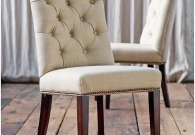 Bassett Mirror Dpch15 739 Natural Linen Parson Chair Set