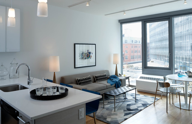 arrange living room furniture small apartment wall decor for diy mercedes house - midtown modern interior design, 1 bedroom ...