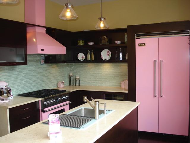 Viking Pink Kitchen  Contemporary  Kitchen  cleveland