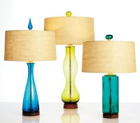 Blenko Glass iconic Mid-Century Modern table lamps ...