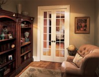 12-Lite French Doors - Contemporary - Living Room - orange ...
