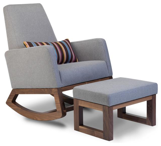 storage ottoman sound chair restoration hardware aviator joya rocker - modern rocking chairs toronto by monte design