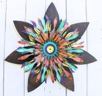 Boho Chic Wood Flower Wall Art | Mardi Gras Bohemian Decor ...