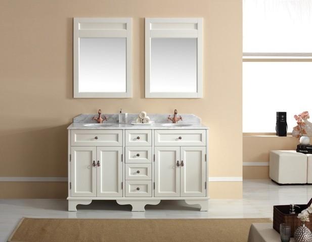 1500mm Freestanding White Bathroom Vanity  Casoria