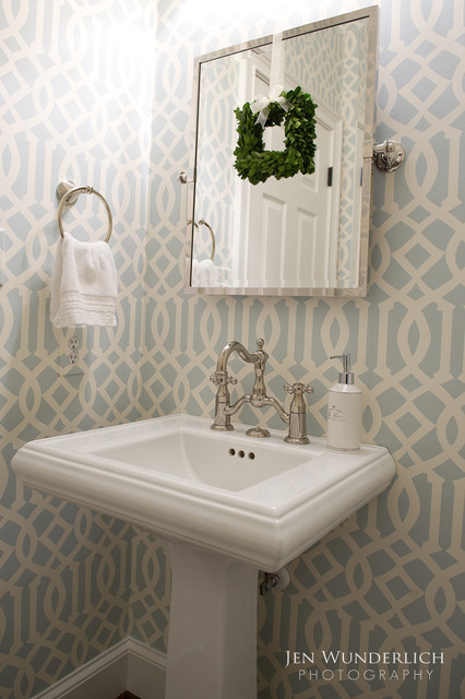 Megan Cadogan traditional powder room