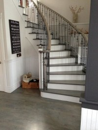 Wood Floor & Stair Refinishing - Grey Stained Coloured ...