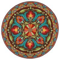 Porcelain Mocha Round Rug - Traditional - Entry - boston ...