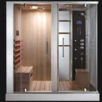 AquapeuticsSouthwood Steam Shower Sauna Combo - Modern ...