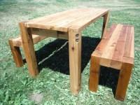 BOLT - [CEDAR PATIO TABLE & BENCHES] - Farmhouse - Patio ...