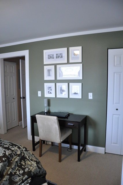 Creating Space for a desk in the bedroom  Contemporary