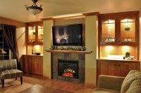 Cedar Falls Fireplace Wall - Contemporary - Family Room ...