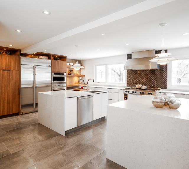 Modern White Kitchen By Astro Design Ottawa