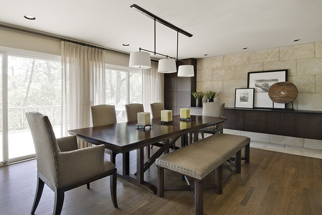 king hickory chair wooden folding chairs ikea lake road dining room - contemporary detroit by amw design studio
