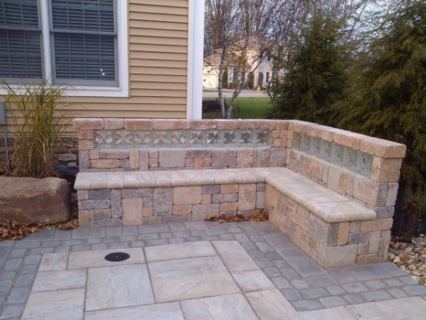 glass block in landscaping - traditional