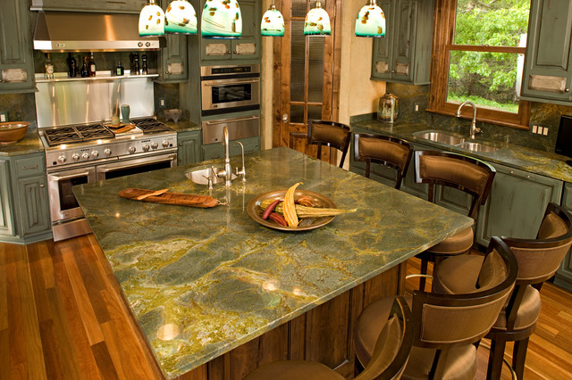 Islands  Traditional  Kitchen  other metro  by Stone Countertop OutletGraniteTops