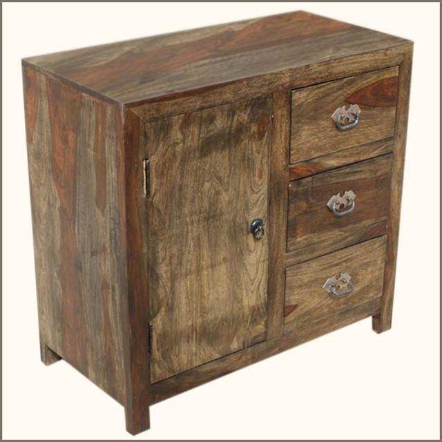 Appalachian Rustic 3Drawer Kitchen Buffet Storage Cabinet