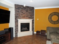 Fireplace Surrounds of Faux Brick and Stone - Contemporary ...