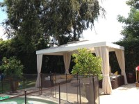 Poolside White Cabana with four Curtains - Traditional ...