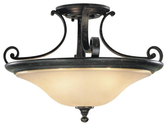 Cervantes Semi Flush Mount  Modern  Bathroom Lighting And Vanity Lighting  by Lightology