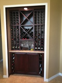 Custom Kitchen Wine Cabinet - Modern - Wine Cellar ...