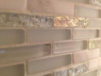 Glass & Marble Backsplash - Modern - Tile - boston - by ...