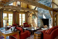 Elegant Rustic - Rustic - Living Room - boston - by ...