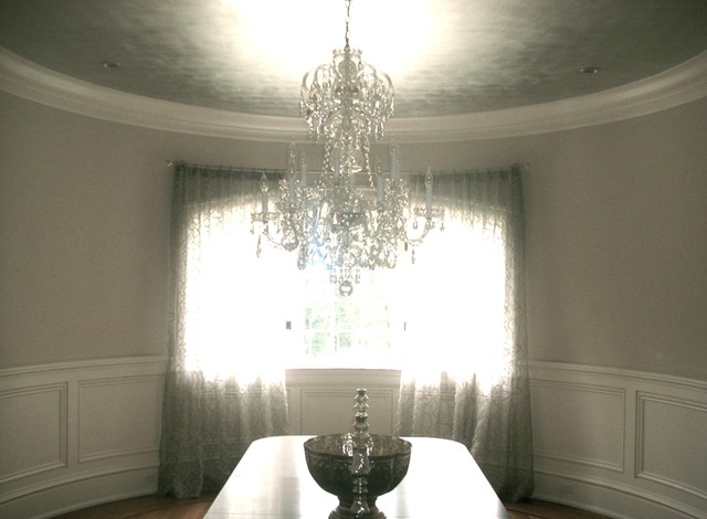 Silver Leaf Ceiling Modern Dining Room New York By Suzanne Bellehumeur