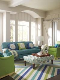 Chevron Rug in Capri Blue - Living Room - boston - by ...