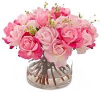 Real Touch Rose Faux Floral Arrangements & Centerpieces ...