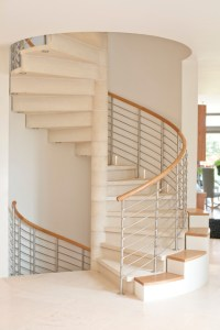 Spiral to Staircase to Wine Cellar - Contemporary ...