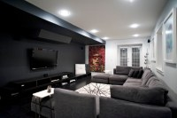 West 14th - Media Room - Contemporary - Home Theater ...