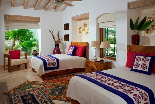 modern mexican bedroom design COLORFUL MODERN MEXICAN