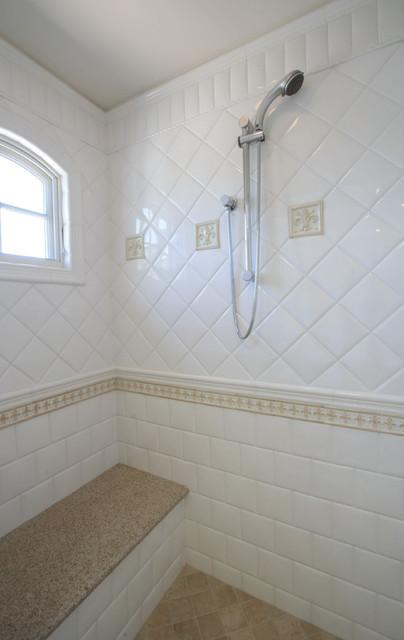 Tan and White Bathroom Shower  Modern  Bathroom  san diego  by SteigerwaldDougherty Inc