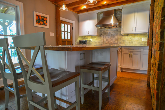 kitchen island pendant moen high arc faucet farmhouse - island/hidden stool ...