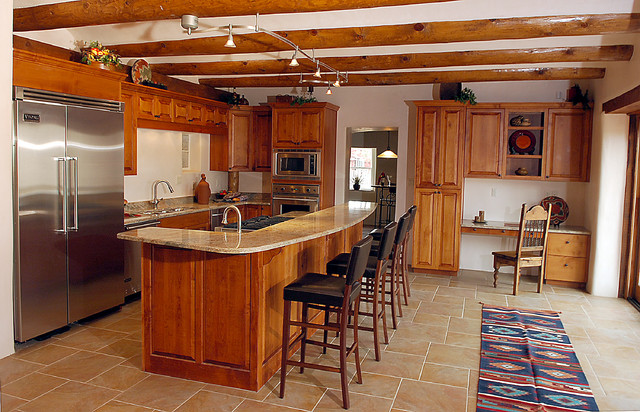 Custom Built Southwestern Home  Southwestern Kitchen