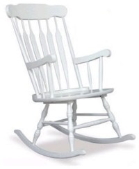 Adult Rocking Chair in White - Traditional - Rocking ...