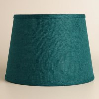 Teal Burlap Table LampShade table-lamps