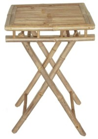 Bamboo Folding Table Small Square - Tropical - Side Tables ...