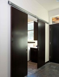 Sliding doors to laundry. - Modern - Laundry Room ...