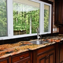 Living Room Window Sill Decorating Ideas Side Bench For Magma Gold Granite - Traditional Kitchen Dc Metro By ...